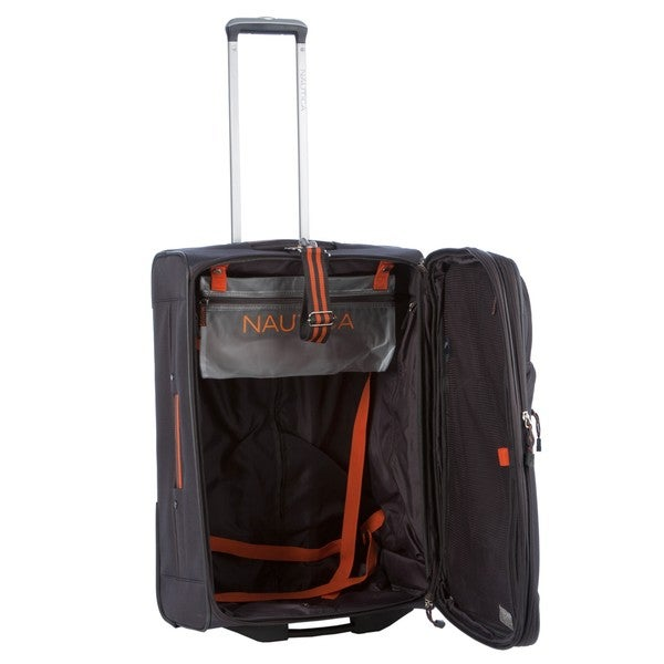 Nautica Helmsman Orange/Grey 4-piece Luggage Set