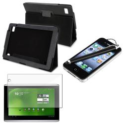 Leather Case/ Screen Protector/ Black Stylus for Acer Iconia A500