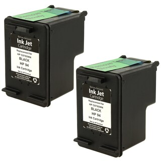 2-piece HP 94 C8765WN Black Ink Cartridge for HP 6840/ 1610 (Remanufactured)
