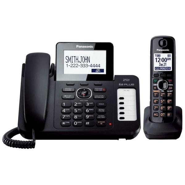 Panasonic KX-TG6671B DECT 6.0 1.90 GHz Cordless Phone - Black