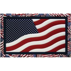 American Flag 12x19 Quilt Magic Kit
