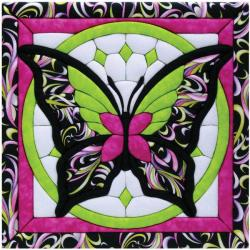 Quilt Magic Multicolored Butterfly II Quilt Magic Kit (12 inches Square)