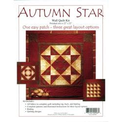 Rachels of Greenfield Autumn Star Wall Quilt Kit (22x22)