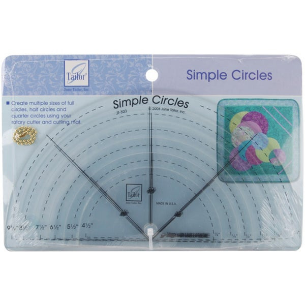 June Tailor Simple Circles Rotary Cutting Rulers (Pack of 6)