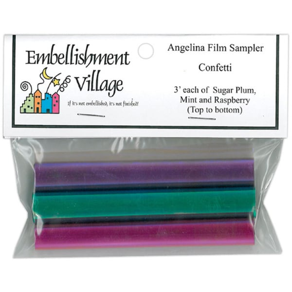 Embellishments Village Raspberry/Mint/Sugar Plum Angelina Film Sampler