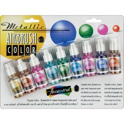 Jacquard Metallic Airbrush Exciter (Pack of 8)