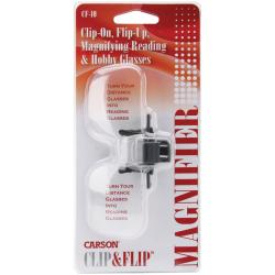 Carson Clip-and-flip Magnifying Glasses with Protective Pouch