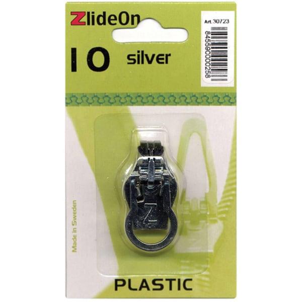 ZlideOn Plastic Size 10 Silver Zipper Pull Replacement