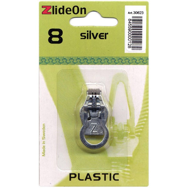ZlideOn Zipper Size 8 SIlver Pull Replacement
