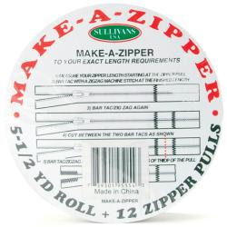 White 5.5-yard Make-A-Zipper Kit