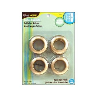 Dritz Home 1-inch Matte Gold Curtain Grommets (Set of 8)