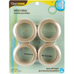 Dritz Home Matte Gold Curtain Grommets (Set of 8)