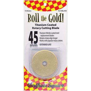 Titanium-coated 'Roll The Gold!' Rotary Cutting Blade (Package of 10)
