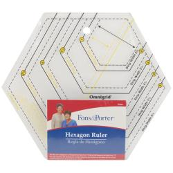 Fons & Porter Hexagonal Ruler