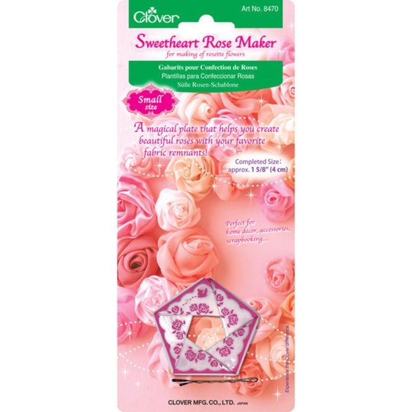 Clover Small Fabric and Ribbon Sweetheart Rose Maker Template