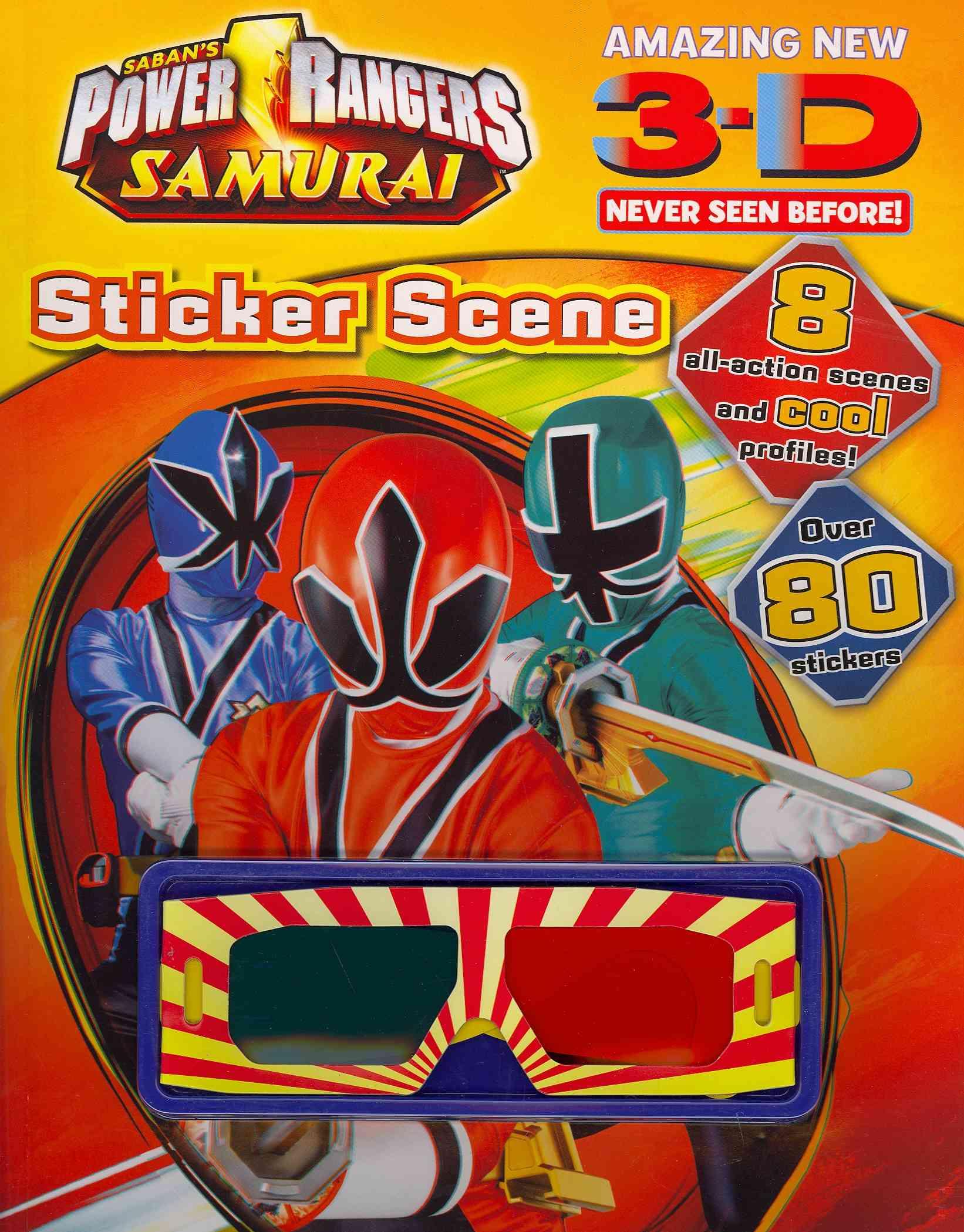 Power Rangers: Samurai 3-d Never Seen Before! Sticker Scene (Paperback)