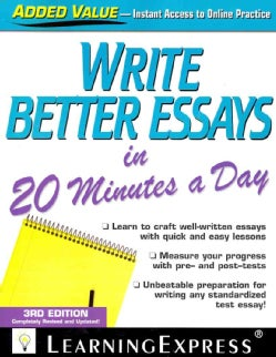 Write Better Essays in 20 Minutes a Day (Paperback)