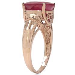 Malaika 7.60ctw 14K Rose Gold Overlay Silver Ruby Ring