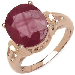 Malaika 7.60ctw 14K Rose Gold Overlay Silver Ruby Ring
