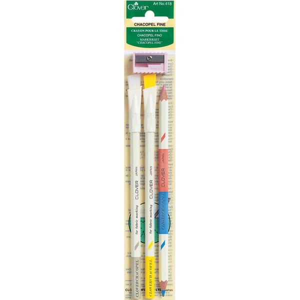 Clover Chacopel Fine Fabric Marking Pencils