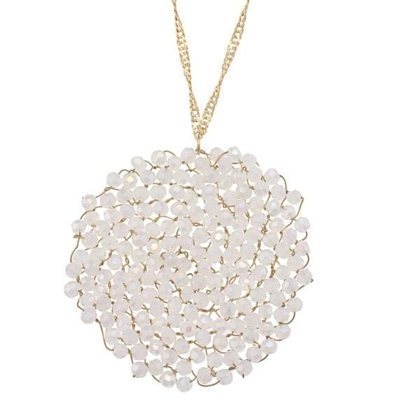 NEXTE Jewelry Goldtone Opal Swirling Cyclone Necklace
