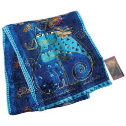 Laurel Burch Indigo Cats Silk Scarf