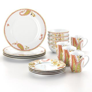 Rachael Ray 16-piece Paisley Dinnerware Set