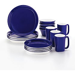 Rachael Ray 16-piece Round and Square Blue Dinnerware Set