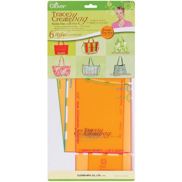 Trace 'n Create Bag Templates With Nancy Zieman-Florida Bag Collection