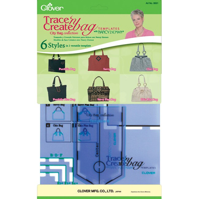 Trace 'n Create Bag Templates with Nancy Zieman City Bag Collection
