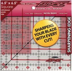 The Cutting EDGE 6.5 x 6.5-inchFrosted Ruler
