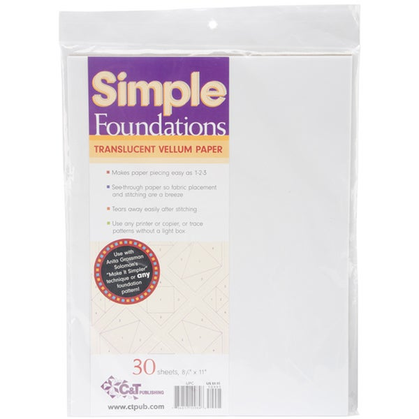 Simple Foundations Translucent Vellum Paper (30 Count)