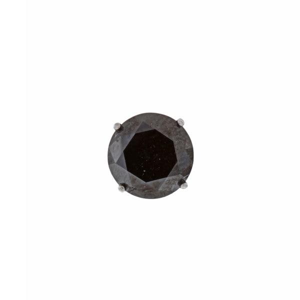 14k White Gold 2ct TDW Black Diamond Single Earring