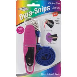 Dura Snips Pink and Black Squeeze-style Thread Snips
