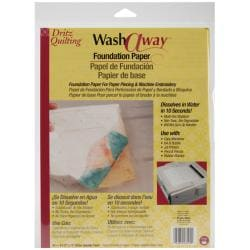 Dritz Quilting Wash Away Foundation Paper (Pack of 10)