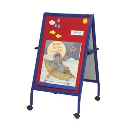 Best-rite Magnetic Flannel Wipe-off Presentation Easel On Wheels