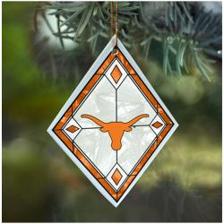 Texas Longhorns NCAA Art Glass Ornament