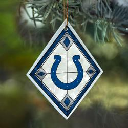 Indianapolis Colts NFL Art Glass Ornament