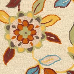 Safavieh Handmade Blossom Beige Wool Area Rug (3' x 5')