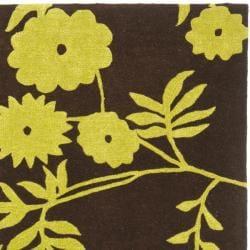 Safavieh Handmade New Zealand Wool Spring Brown/ Green Rug (6' Square)