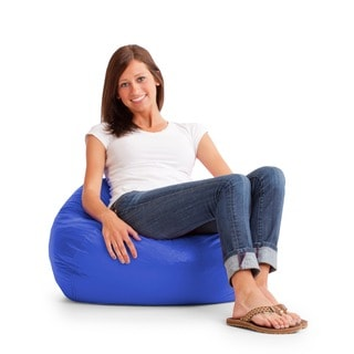 BeanSack Royal Blue Vinyl Bean Bag Chair