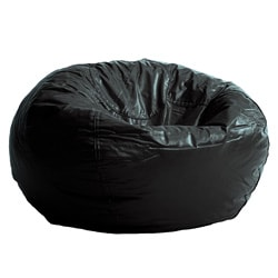 BeanSack Black Vinyl Bean Bag Chair
