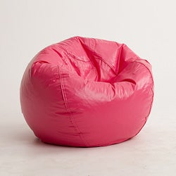 BeanSack Hot Pink Vinyl Bean Bag Chair