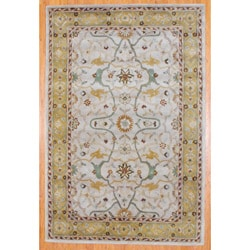 Indo Hand-tufted Mahal Beige/ Gold Wool Rug (2' x 3')