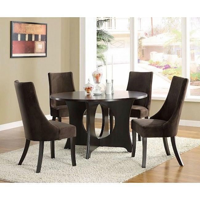 Dark Brown Velvet 40-inch Side Chairs (Set of 2)
