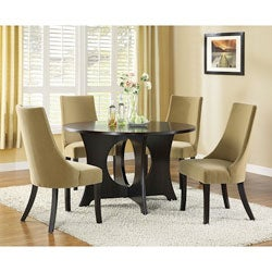 Tan Velvet 40-inch Side Chairs (Set of 2)