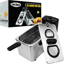 Chef Buddy Electric 3.5-liter Stainless Steel Deep Fryer