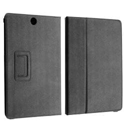 Black Leather Case/ Screen Protector for Toshiba Thrive