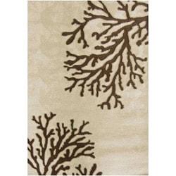 Nepos Hand-hooked Beige Indoor/ Outdoor Rug (3'6 x 5'6)