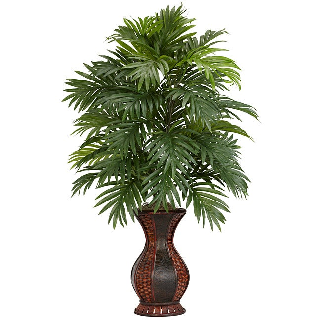Areca Palm with Urn Polyester Plant